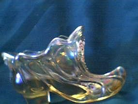 Fenton Glass Shoe