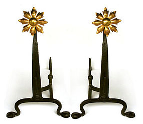 Arts and Crafts Andirons