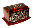 Tortoise Shell Tea Caddy