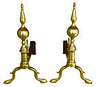 Steeple Topped Andirons