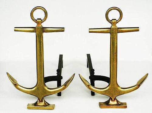 Anchor Andirons