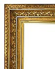 Original Gilded Gesso And Gold Leaf Picture Frame