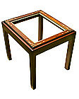 Antique Walnut Picture Frame On Custom Made Stand