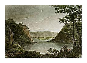 Engraving, Scenic American Landscape