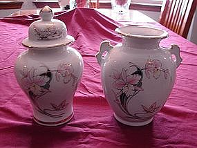 Matching Vase and Urn