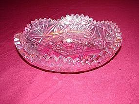 Anchor Hocking pressed pink glass candy bowl