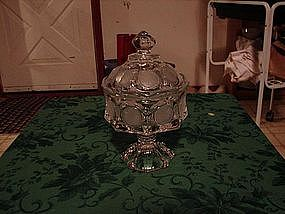 Fostoria clear coin glass wedding compote