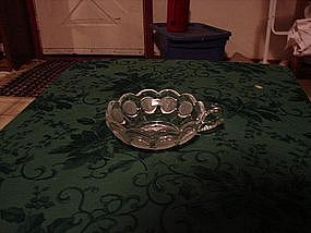Fostoria clear Coin glass sauce bowl