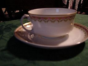 H & C co. Selb Bavaria  cup and saucer set.