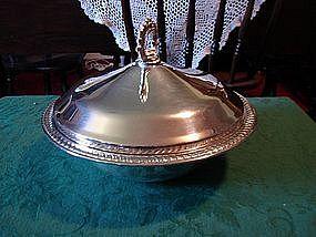 Military silver presentation bowl