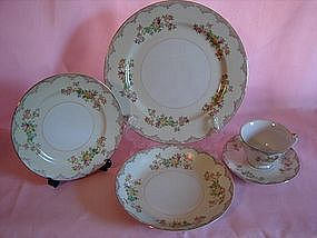 Mayfair china five piece place setting
