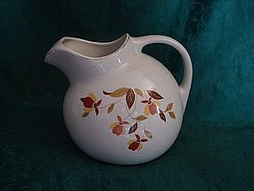 Hall Autumn Leaf ball pitcher