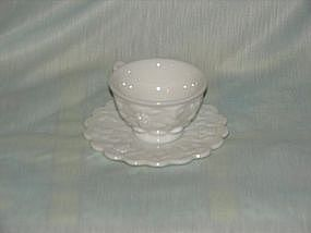 Westmoreland raised grape cup n saucer