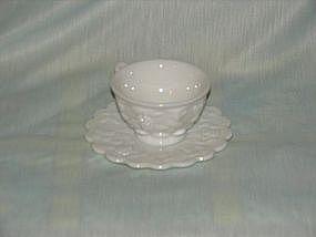 Westmoreland raised grape cup n saucer