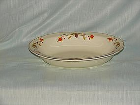 Hall Jewel Tea Autumn Leaf oval vegetable bowl