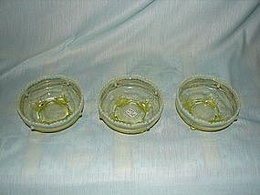 Vaseline glass berry bowls
