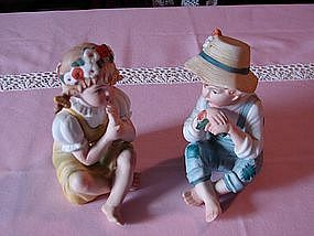 Lefton country boy and girl set