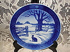 Royal Copenhagen Christmas Hare 1971 Plate