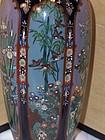 Fine Japanese Paneled Cloisonne Vase Ota Kichisaburo