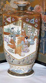 """Antique Japanese Satsuma Ceramic Vase 5"""""""