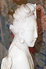 Fine Chinese Ivory Carving Beauty Goddess