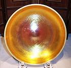 "Steuben Art Glass Gold Aurene Calcite Low 5"" Bowl"