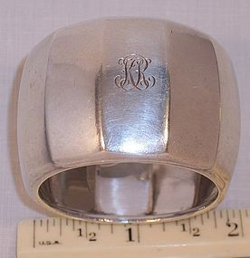 Fine Antique Heavy Tiffany Sterling Silver Napkin Ring