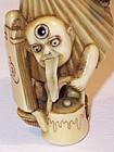 Antique Japanese Meiji Ivory Netsuke Bakemono
