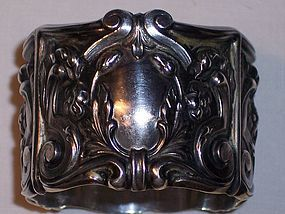 Antique American Sterling Ornate Napkin Ring Wide Fab
