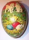9 Papier Mache Germany Easter Eggs Candy Container