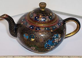 Antique Japanese Cloisonne Enamel Miniature Teapot