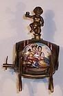 Miniature Austrian Enamel Figural Barrel Keg Perfume Scent Bottle