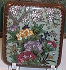 Antique Japanese Cloisonne Enamel Card Cigarette Case
