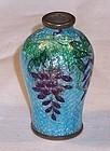 Japanese Gin Barie Cloisonne Enamel Miniature Vase Wisteria c1900