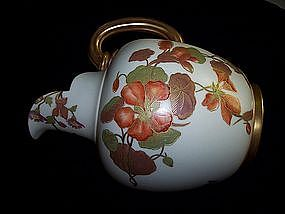 Large Royal Worcester Pitcher Nasturtiums