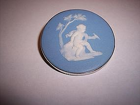 Wedgwood China and Sterling Silver Pin Cherub c.1800