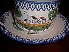 French Faience Luneville-St. Clement Large Cup/Saucer