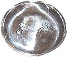 """Vintage Japanese Sterling Hand Crafted  6 3/4"""" Plate"""