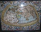 16th Century Map Eastern Hemisphere Latin Hand Painted