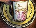 Rare Royal Vienna Porcelain Cup & Saucer Telegraph