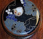 Rare Japanese Cloisonne Enamel Box Grapes imperial Mon