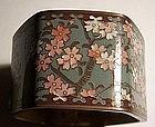 Fine Meiji Japanese Cloisonne Napkin Ring