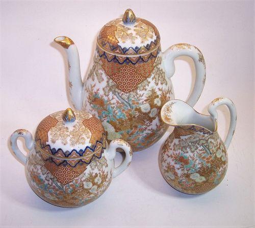 Japanese Arita Fukagawa Studio Porcelain Tea Pot