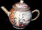 Chinese Export Porcelain18th Century Mandarin Teapot