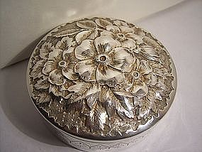 Antique Gorham Sterling Silver Repousse Box  1887