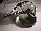 Antique Hand Blown Art Glass Duck Paperweight Figurine