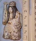 ANTIQUE JAPANESE IVORY CARVING NETSUKE ACTOR 2 FACES