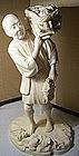 Japanese Meiji Ivory Carving Okimono Farmer w. Harvest