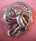 STERLING VIRGO FIGURAL PIN by CINI