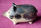 Early METAL PIGGY BANK   {Virginia U.S.A.
